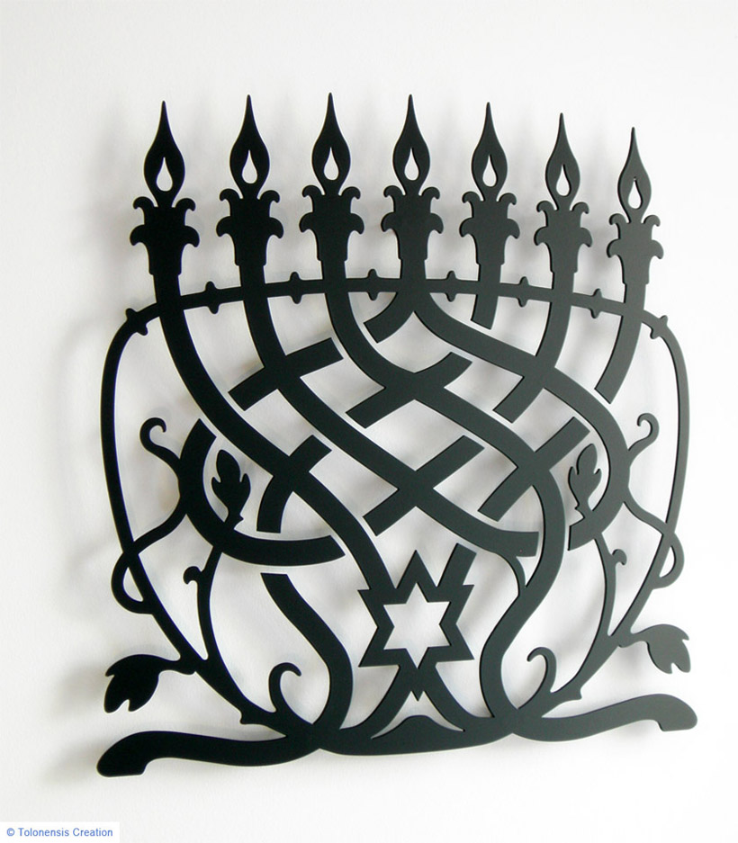 Wall Ornament MENORAH CLASSIC