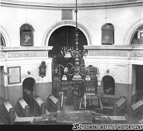 Interior of the synagogue of Praga in Warsaw