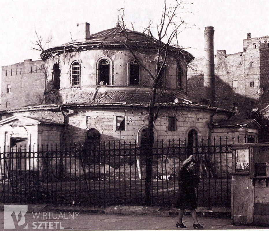 The ruins of the synagogue of Praga in Warsaw