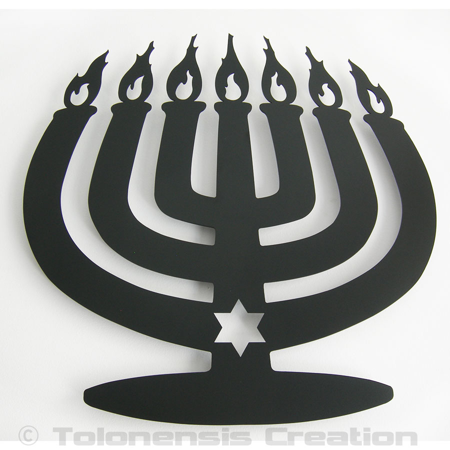 Décoration Judaica Menorah Modern