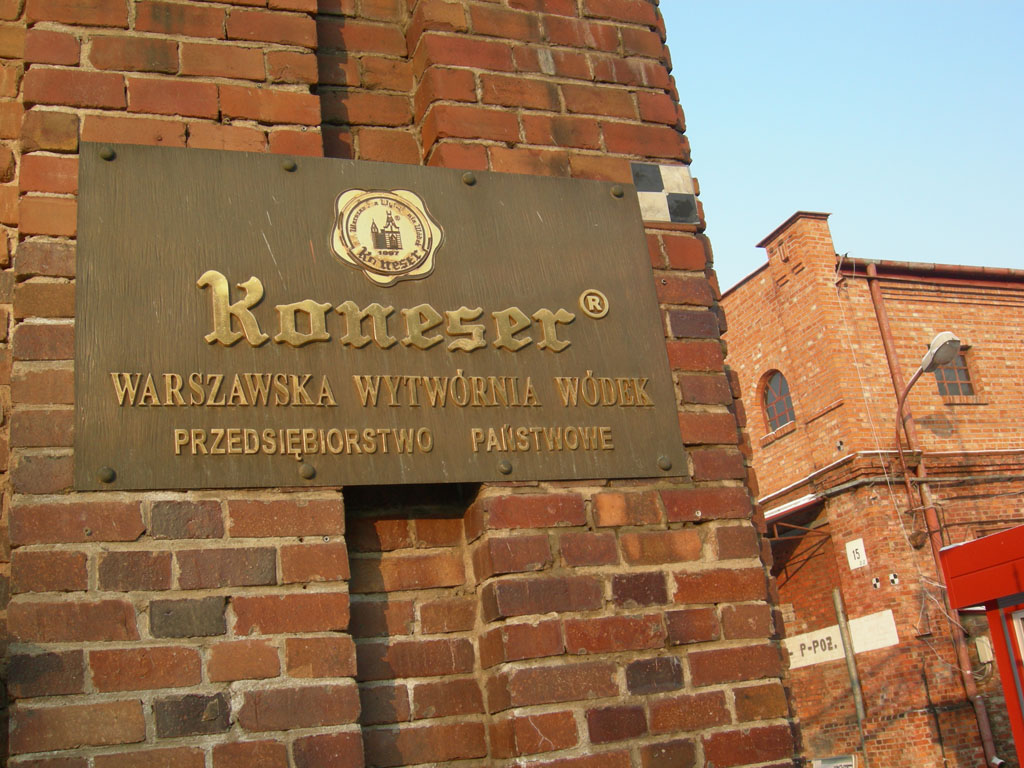 Ancienne distillerie de vodka KONESER de Varsovie