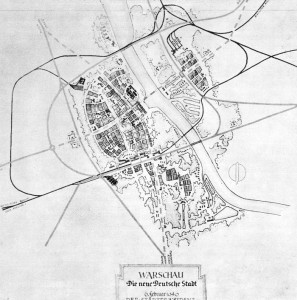Le plan Pabst de reconstruction de la ville de Varsovie © Hubert Gross, Otto Nurnberger