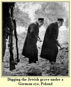 Jews Forced to Dig Graves - Juifs forcés de creuser leur tombe